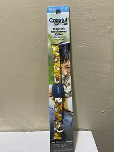 """Coastal Safecat Magnetic Breakaway Cat Collar One Size 8-12"""" For Cats Over 8lbs"""