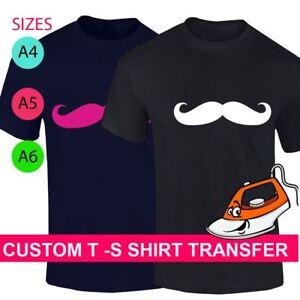 Custom Mustache Print T Shirt Iron On Fabric Heat Transfer Hen Party Top Crew