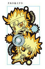 Naruto Naruto and Minato Pair Rubber Phone Strap NEW