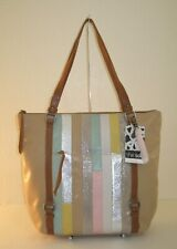 The Sak Tan Multicolor Palermo Soft Leather Top Zip Tote Bag $179