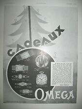 PUBLICITE DE PRESSE OMEGA MONTRE HEURE EXACTE POUR LA VIE CADEAUX FRENCH AD 1930