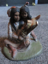 """Knick Knack: Native American Likeness: 4.5"""" Mother and Children: Missing Piece"""