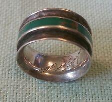 CARLOS DIAZ Handmade Navajo Sterling Silver Turquoise Ring Sz 6. 5 or 7.