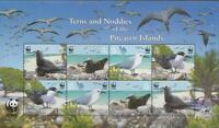 BIRD0054 - BIRDS PITCAIRN ISLANDS 2007 TERNS AND NODDIES WWF SHEET MNH