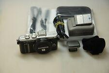 Olympus PEN e-pl8 argento-Fotocamera digitale-solo chassis top condizione in scatola originale