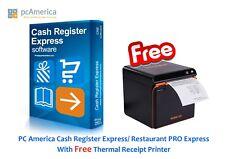 Pc America Cash Register Express/ Restaurant Pro Express Cre/Rpe Software