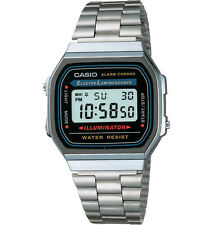 Casio Collection Unisex Digital Watch With Stainless Steel Bracelet A168wg