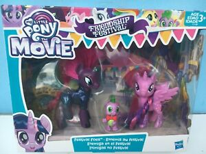 MY LITTLE PONY The Movie Friendship Festival Foes 3-Pack Tempest, Spike,Twilight