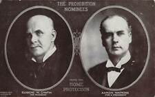 PROHIBITION PARTY PRESIDENTIAL CANDIDATES CHAFIN & WATKINS 1908 & 1912 ELECTIONS