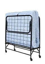 "TWIN FOLDING BED Cot 5"" Foam Mattress Guest Roll Away Camping Portable Sleeper"
