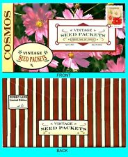 Cosmos - Vintage Seed Packets  First Day Cover with Color Cancel