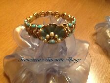 GORGEOUS AND RARE-Joan Rivers' Simulated Turquoise and Pearl Shell Bangle
