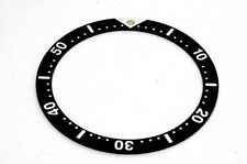 BEZEL INSERT FOR SEIKO 6309, 7002 AND 7S26 - NEVER WORN QUALITY PART UK SALE