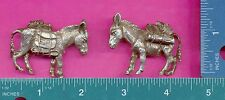 3 wholesale lead free pewter pack donkey figurines G7064