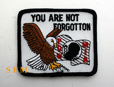 US POW MIA COLLECTOR PATCH NOT FORGOTTEN NAVY ARMY AIR FORCE MARINES VETERAN USA