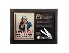 """Case US Army Uncle Sam """"I Want You"""" Trapper Commemorative 15011 FREE SHIPPING"""