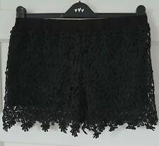 Ladies ZANZEA Black Lace Shorts Size UK L