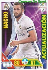 229BIS NACHO ESPANA REAL MADRID ACTUALIZACION CARD ADRENALYN LIGA 2017 PANINI