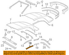 TOYOTA OEM 04-08 Solara Convertible/soft Top-Weatherstrip Seal Left 6238206040