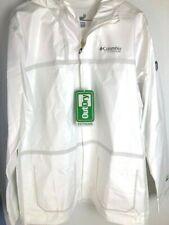 NEW Columbia Titanium Men's Large White OutDry Ex Eco Tech Shell Rain Jacket