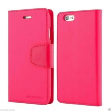 iPhone 5 5s and SE 2016 Genuine MERCURY Goospery Hot Pink Flip Case Wallet Cover