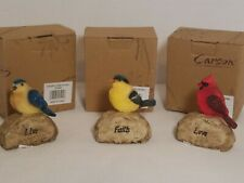 Carson Home Accents. Songbird Stone Collectible Bird Figurines. Lot 3.