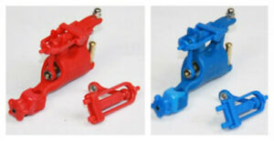 New 2 Assorted Blue&Red Whip Rotary Tattoo Machine Motor Gun For Liner Shader