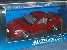 AUTO ART 2004 FORD MUSTANG GT COUPE 1/18 BURGANDY 40th ANNIVERSARY EDITION