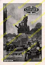 Reklame Stoewer-Werke Auto Lastwagen Militär Manzelbrunnen Szczecin Stettin 1917