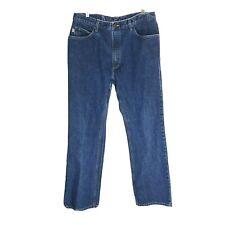 All American Mens Jeans Size 36x32 Boot Cut Dark Blue Denim 100% Cotton Gusset