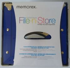 Memorex 80 Disc CD/DVD Storage Drawer Royal Blue **Warehouse Pickup Only**