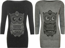 Animal Print 3/4 Sleeve Regular Size Jumpers & Cardigans for Women