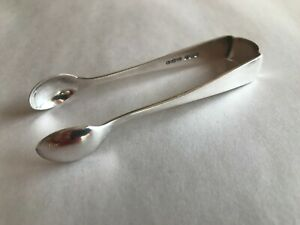 ANTIQUE 1905 DECO W S SAVAGE & CO SHEFFIELD ENGLAND STERLING SILVER SUGAR TONGS