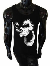 Calavera Camiseta de tirantes Serigrafiada para hombre PUNK ROCK HORROR demonio
