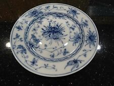 Antique Berlin Blue and White Porcelain Plate Flower Design Early 1900s
