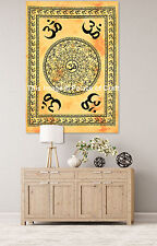 Om Mandala Throw Wall Hanging Small Tapestry Indian Dorm Decor Table Cover 30*40