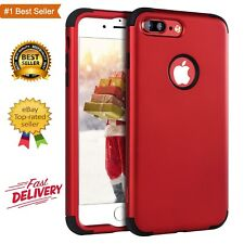 iPhone 7 Plus Cover Slim 3in1 Heavy Duty Shockproof Drop Protection Case Red NEW