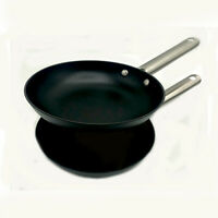 Le Chef 12 Inch Enameled Coated Cast Iron Skillet, Matt Black (2 Pack).