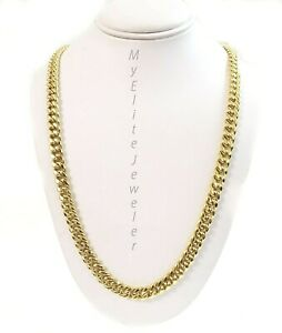 """REAL 10K Gold 6mm Miami Cuban Chain Necklace 24"""" Link  Box Lock 10kt Yellow Gold"""