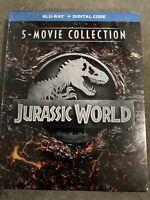 Jurassic World 5-Movie Collection Blu-ray + Digital Code Sealed New!