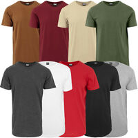 URBAN CLASSICS SHAPED LONG TEE T-SHIRT HERREN BASIC SHIRT FREIZEIT SPORT TB638