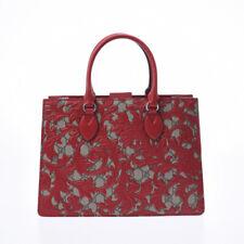 GUCCI GG Supreme Arabesque 2WAY Bag Greige / red 409531 Hand Bag 800000083238000