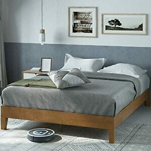 ZINUS Alexis Deluxe Wood Platform Bed Frame / Solid Wood Foundation / No Box Spr