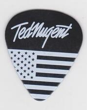 TED NUGENT GUITAR PICK BLACK & WHITE AMERICAN FLAG 2016 CONCERT TOUR The NUGE