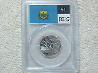 2001 S PROOF CLAD VERMONT STATE QUARTER PCGS GRADED PR69 DCAM FLAG LABEL