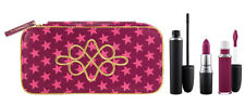 MAC Nutcracker Sweet Plum Retro Matte Kit Lipstick + Mascara + Lip Lacquer NEW