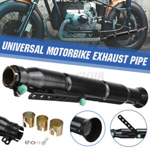 Motorcycle Retro Vintage Rear Exhaust Pipe Tip Muffler Bobber Cafe Racer Black