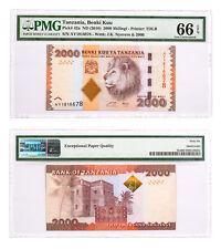 (2010) Tanzania Benki Kuu 2000S Note Pick #42a PMG Gem Unc 66 EPQ SKU47853