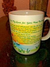Vtg Dad My Love For You Has Not End! Blue Mountain Arts Coffee Mug