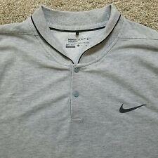 Nike Golf XL Modern Fit Blade Collar Dri-Fit Polo Shirt Gray